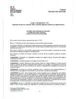 Arrêté Préfectoral Septembre 2020